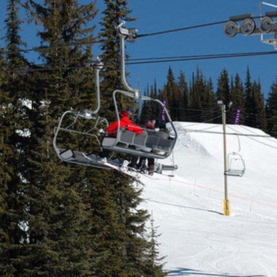Detachable chairlifts move faster than fixed-grip lifts.