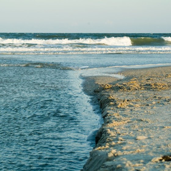 The Myrtle Beach shoreline is 20 miles south of Little River.