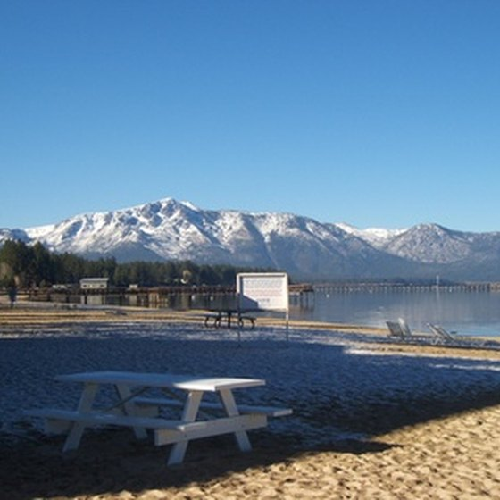 Bus tours around Lake Tahoe frequently stop at scenic sightseeing locations