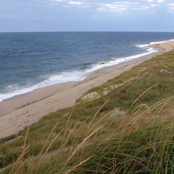 Beautiful beaches surround Provincetown on Cape Cod.