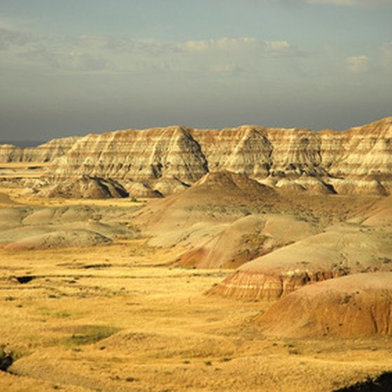 Badlands National Park contains striking geography in its hills and valleys.