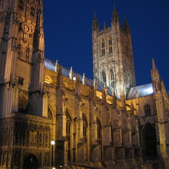 England's Canterbury Cathedral is a popular tourist draw.