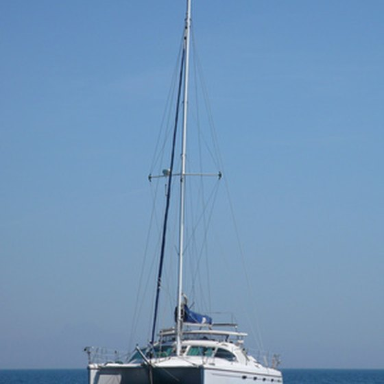 Big catamarans often serve as sailing and diving ships.