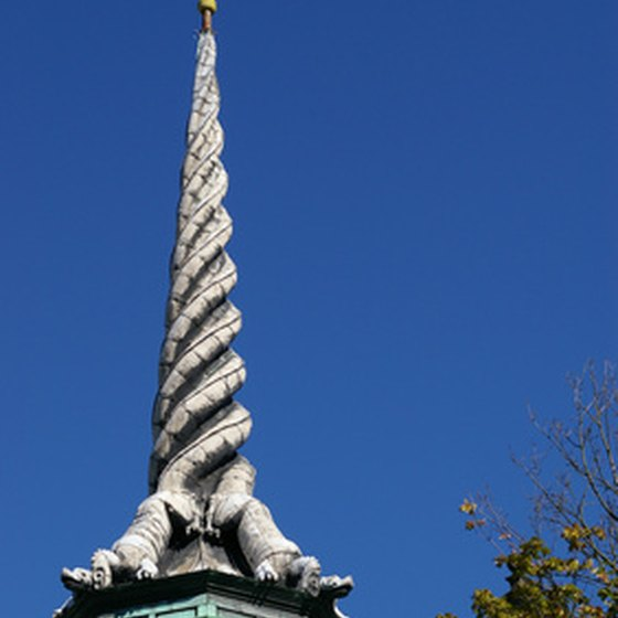 The Borsen's Dragon Spire was replaced with an exact replica of the original in 1775.
