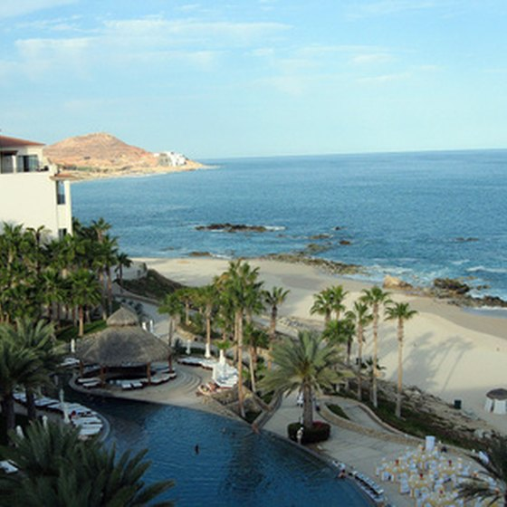 One of Cabo San Lucas' numerous beachfront resorts.