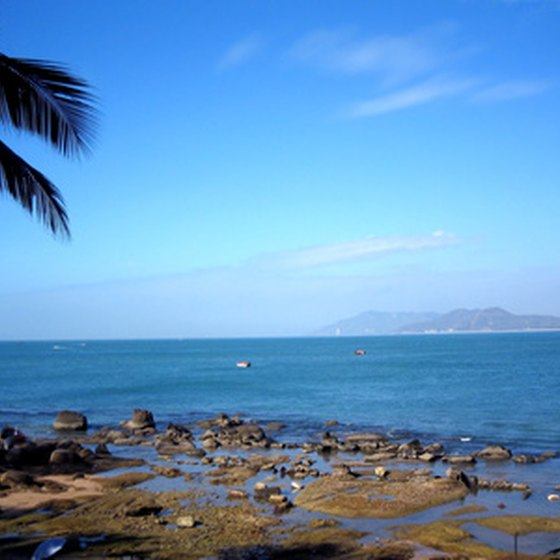 Puerto Plata, Dominican Republic, is centrally located near several popular tourist beaches.