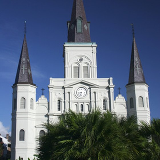St. Louis Cathedral can be seen on a walking tour of the French Quarter