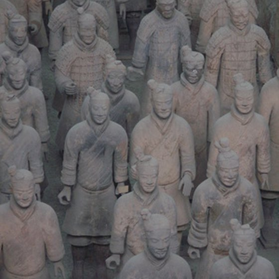 The terra cotta warriors of Xian are featured in many tour itineraries.