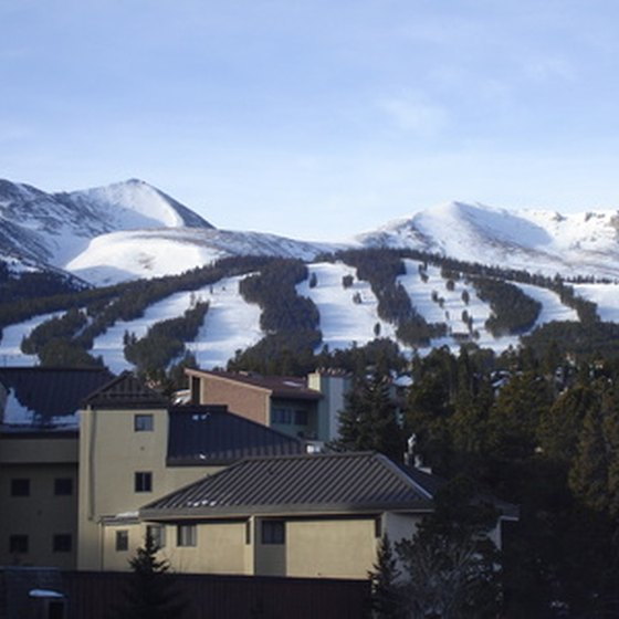 Breckenridge is nestled at the base of four mountain peaks of the Ten Mile Range.