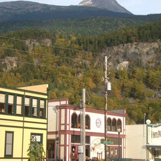 Skagway is a waterfront town with an impressive backdrop.