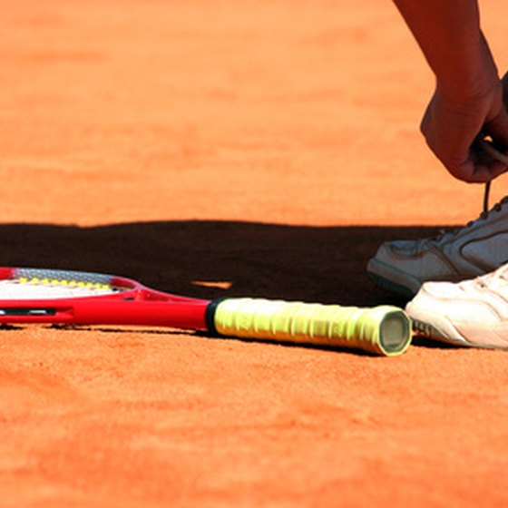 Roland Garros is famous for its red clay.