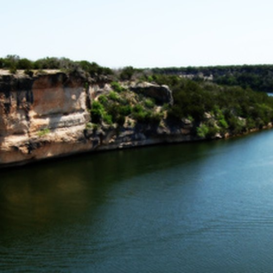 Hell's Gate rises 110 feet out of Possum Kingdom Lake.