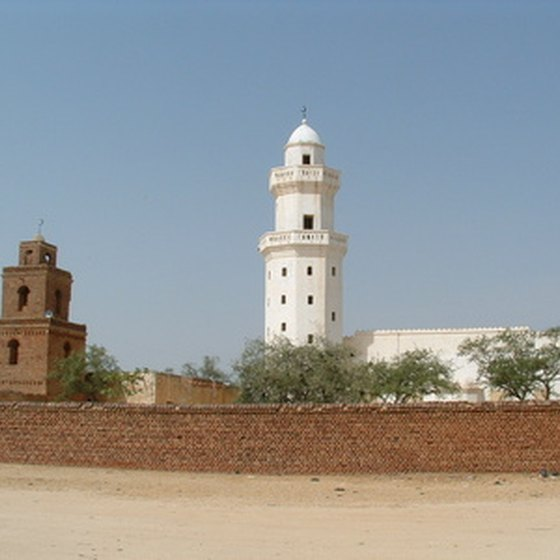 An old and new mosque sitting side by side in Chad