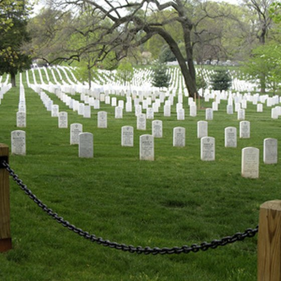 Arlington Cemetery is in Arlington, VA, home to many cheap hotels for visitors to the Washington, DC area