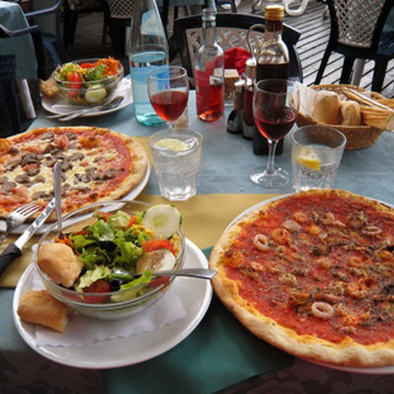 In Italy, enjoying a lavish meal is a common pastime.