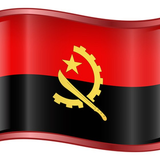 The flag of Angola.