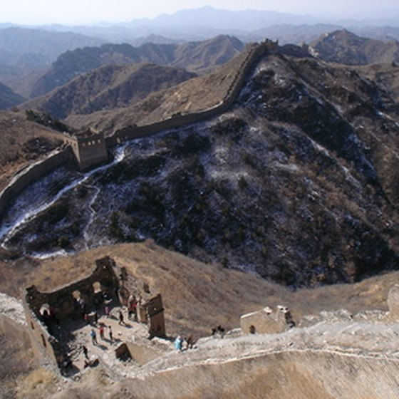 Construction on the Great Wall began in the Qin dynasty, 221 to 207 BC.