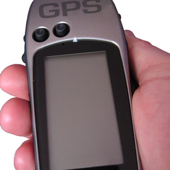 Handheld GPS units typically run on AA batteries.