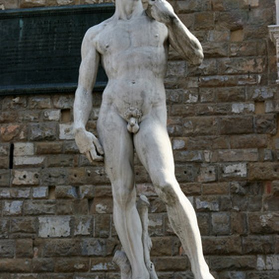 "Michelangelo's ""David"" in Florence, Italy"