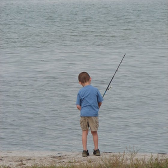 Fishing is popular at Tower's family-friendly campgrounds.