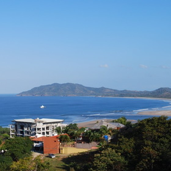 Aerial view of Tamarindo, Costa Rica