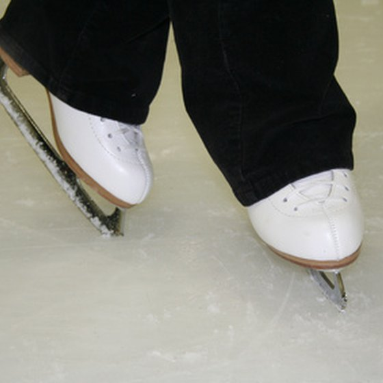 People can ice skate in Jamestown, N.Y.
