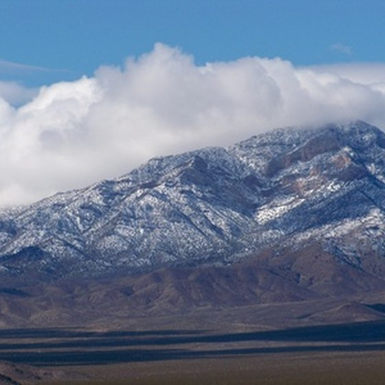 The rugged natural beauty of Nevada surrounds the border town of Mesquite.