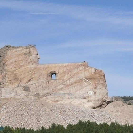 Crazy Horse Memorial is being constructed near Badlands National Park.