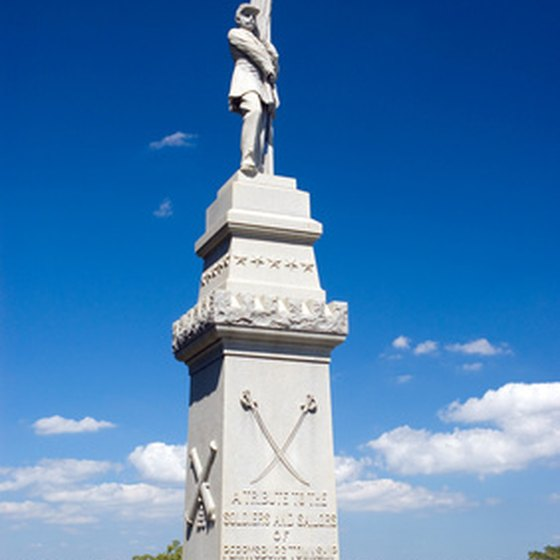 A Civil War monument