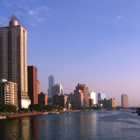 Tourists can take a boat ride on or walk along the Love River, a waterway located in Kaohsiung.