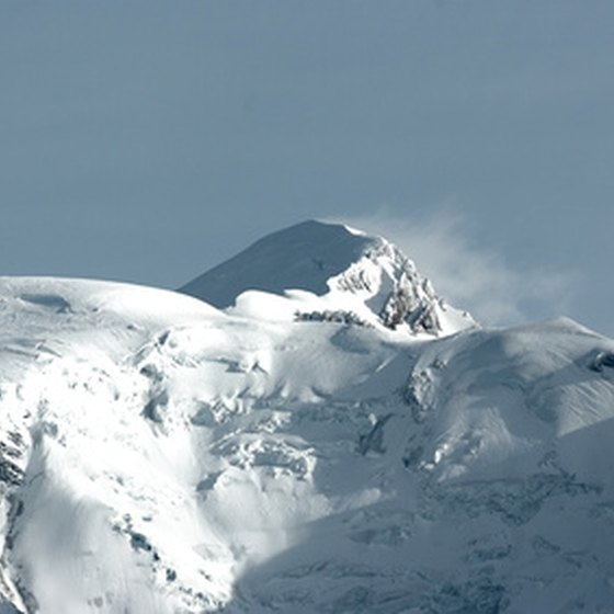 Mont Blanc, one of Quebec's highest peaks, is home to a ski resort.