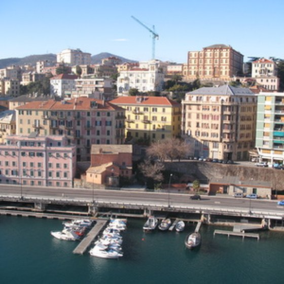 A view of Savona's harbor.