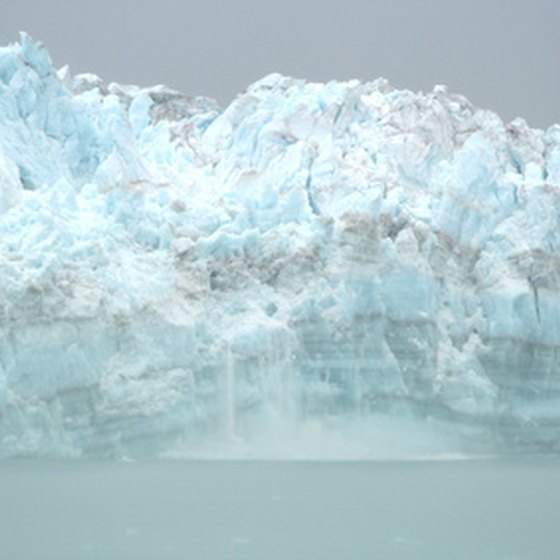 Take a scenic trip past a glacier in Alaska.