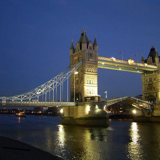 View the London Tower Bridge on a London night tour.