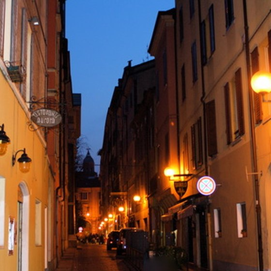 The streets of Modena are ancient.