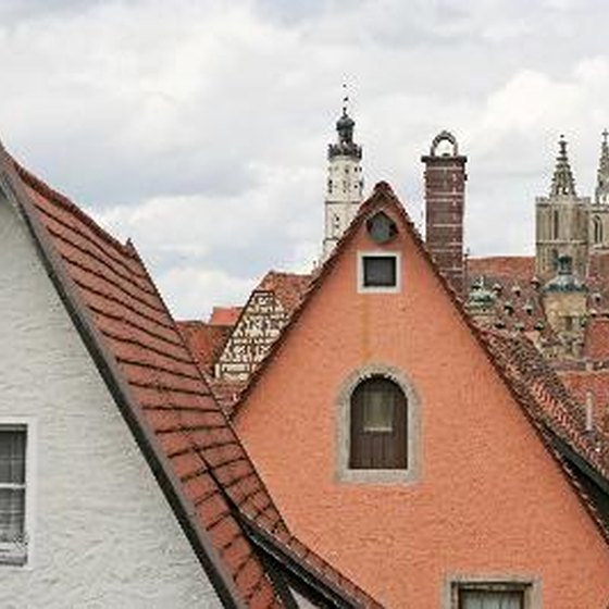 The Rothenburg, Germany, town center dates back centuries.