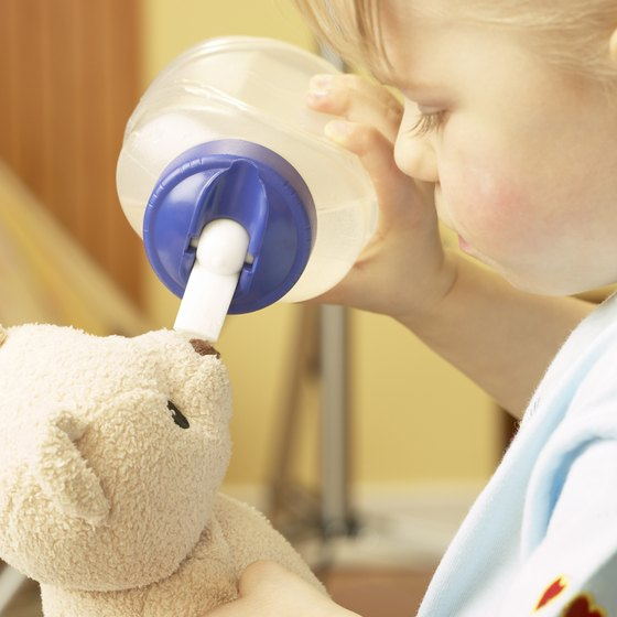 Drinking from a sippy cup eases ear pressure on the airplane.