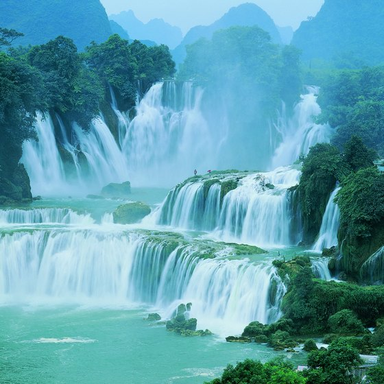 Detian Waterfall is in Guangxi, China.