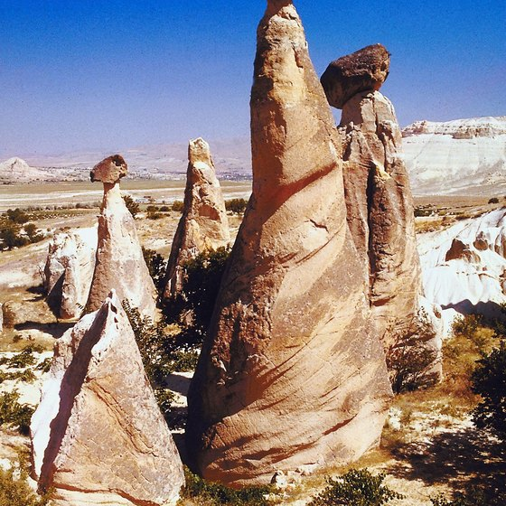 Cappadocia, a region in central Turkey, is known for its remarkable rock formations.