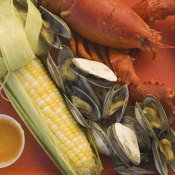 Lobster, crab and seafood is a specialty at restaurants on the water near Sayville, New York.