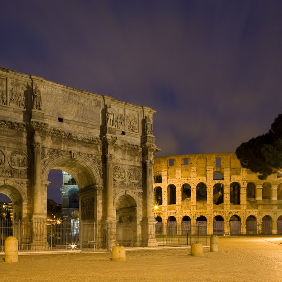 The Arch of Constantine is across from the Colosseum.