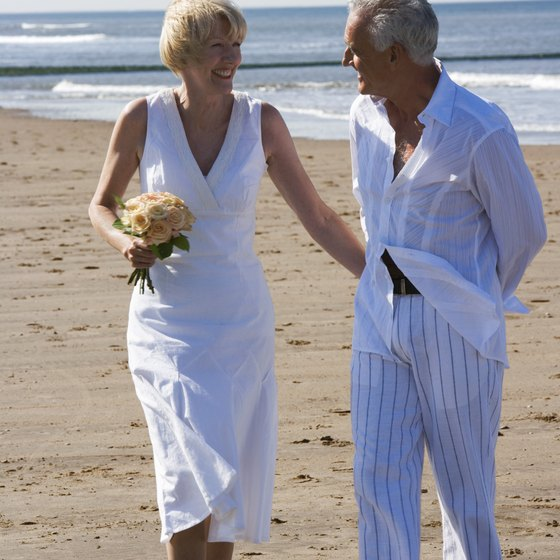 Vow renewal at the beach is a special way to say you'd do it all over again.