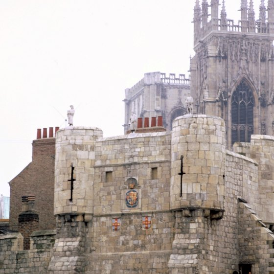 York's cathedral, York Minster, adds Gothic splendor to the city center.