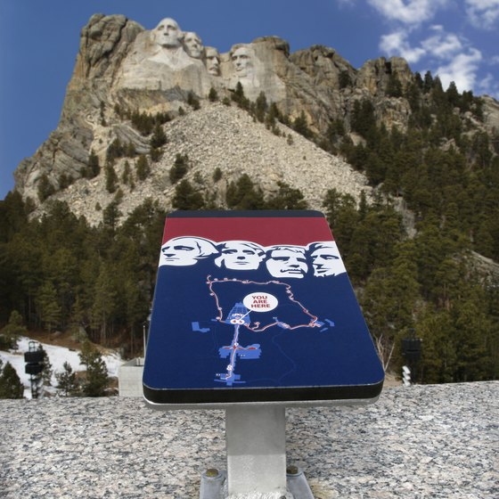Many trails in the Black Hills offer views of Mount Rushmore.