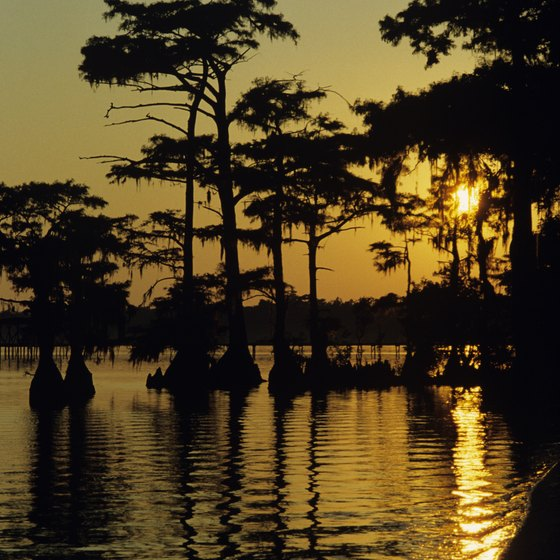 Lake Mattamuskeet in eastern North Carolina glows at dusk.