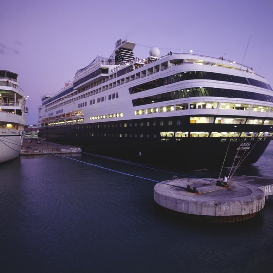 Cruise ships bring visitors from around the world to Le Havre, France.