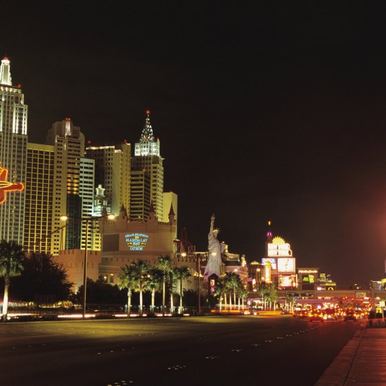 Most of the top hotels in Las Vegas are located on the Strip.