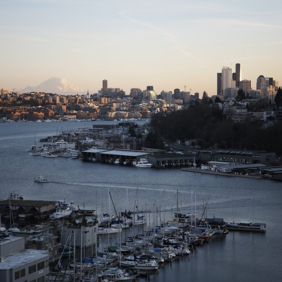 Take in views of Seattle on a boat tour.