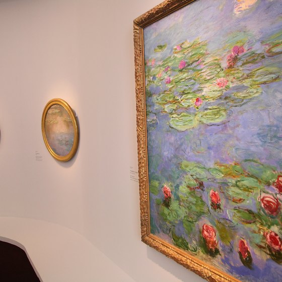 Monet's water garden was the inspiration for his paintings of water lilies.