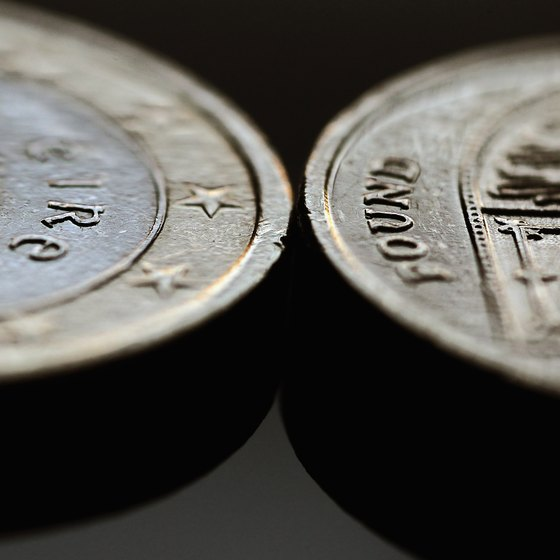 Euro coins come in a variety of denominations and vary in size and coloration.